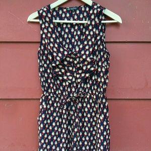 BeBop Bird Pattern Dress Elastic Waist Medium